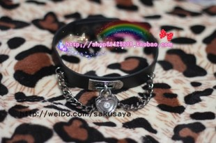 Secrets of God _ Japanese Harajuku zipper dark hard punk girl gal NANA love lock necklace collar