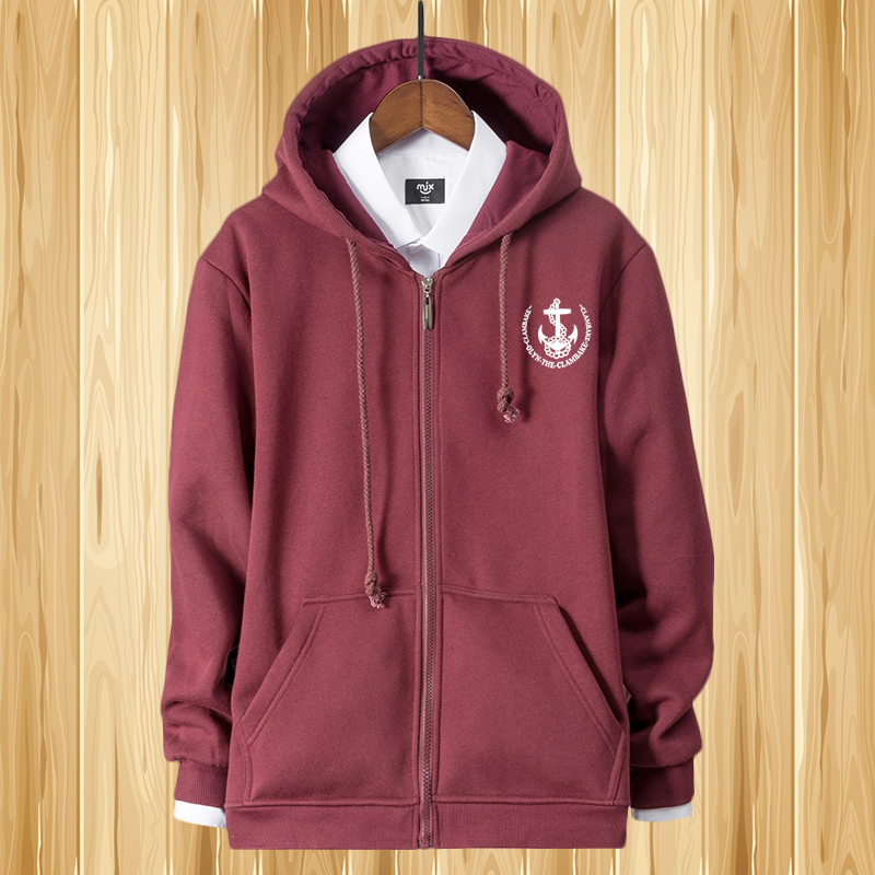 Autumn and winter Plush thickened Hooded Sweater mens loose sports zipper Hoodie plus fat oversize cardigan coat