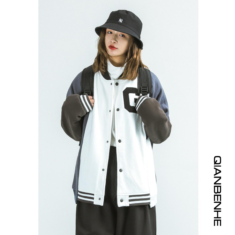 工装棒球服外套女2020春季新款学生宽松bf夹克韩版长袖上衣ins潮