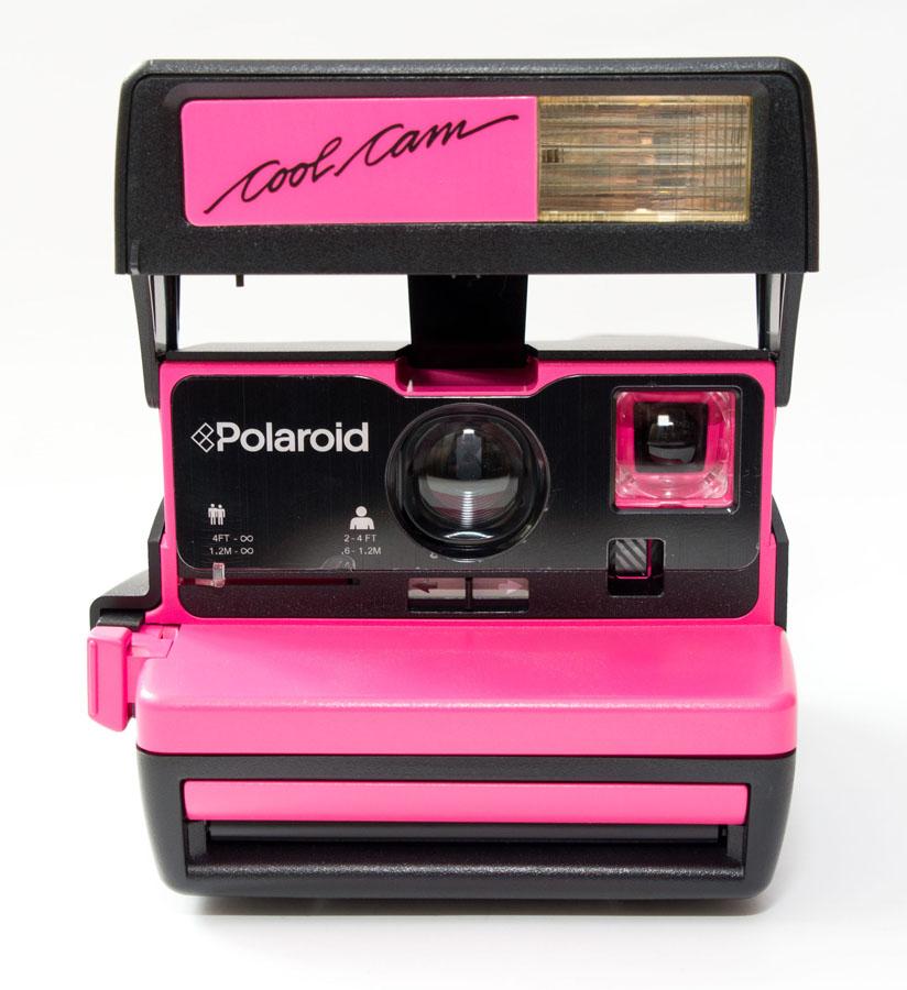 宝丽来 polaroid一次成像拍立得COOLCAM艳粉色600相机箱说全包邮