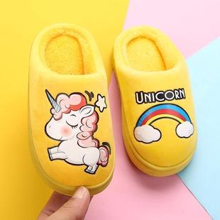 儿童拖鞋秋冬季卡通防滑宝宝居家室内男童女童保暖包跟棉拖鞋新款