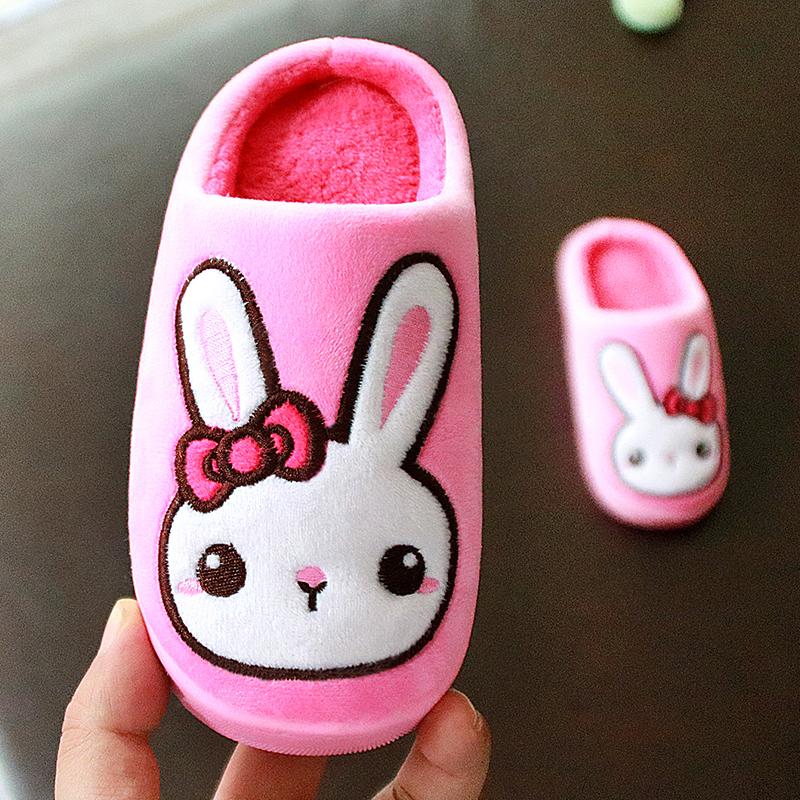 儿童棉拖鞋秋冬女童棉拖小孩宝宝防滑室内家居可爱新款厚底棉拖鞋