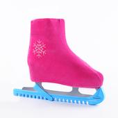 花样冰刀鞋套 韩国绒冰鞋鞋套 冰刀鞋套花样滑冰鞋套冰鞋保护鞋套