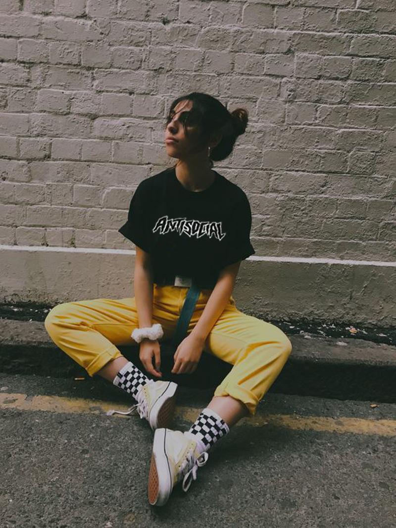 元气少女短袖T恤INS同款情侣装夏季港味原宿风半袖上衣女生体恤衫