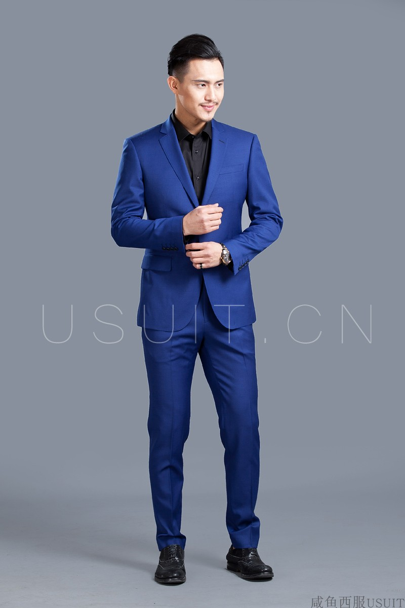 Tailored mens suit tailored wool suit business leisure wedding bridegroom British style Beijing door-to-door measurement