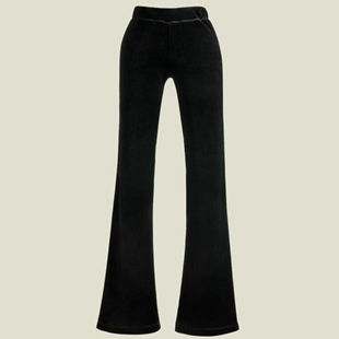 2020 new low waisted womens trousers loose and thin micro flared casual trousers with velvet and diamond velvet flared trousers