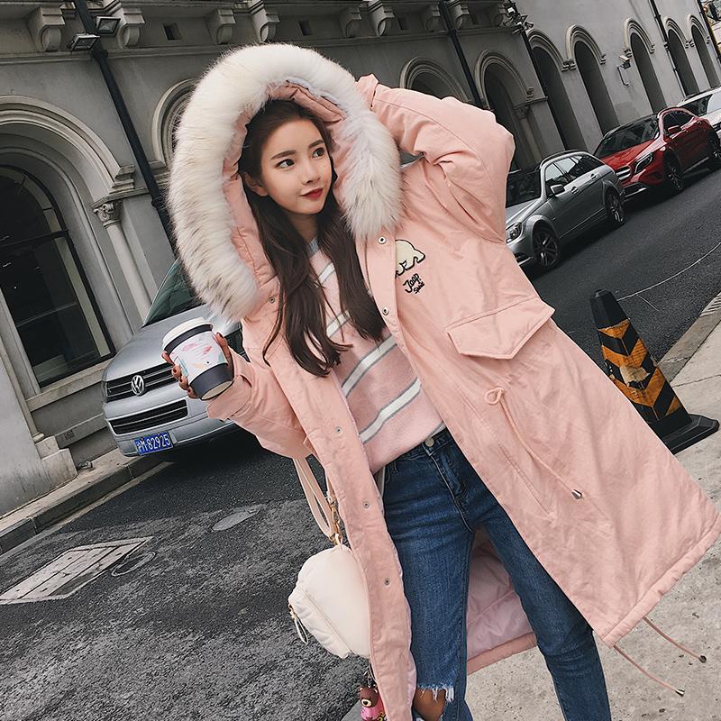 冬季大毛领小熊款  字母刺绣可爱棉衣外套M900 10月2日出货