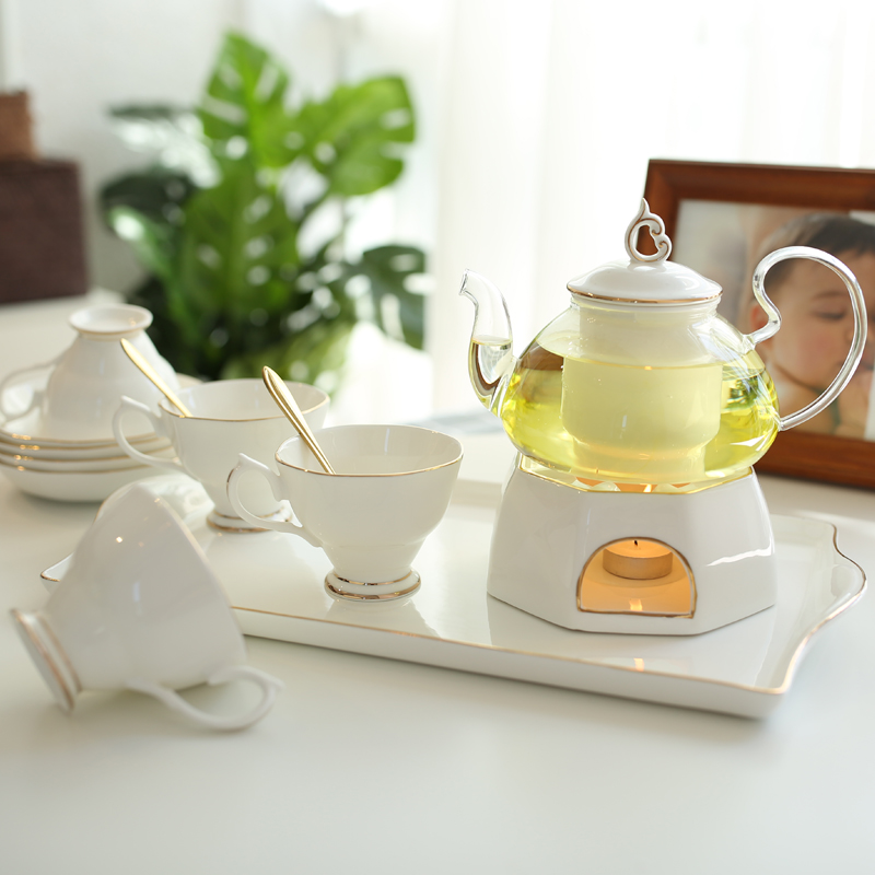 Нордический керамика стекло ароматный чай чайный сервиз кофе установите континентальный высококачественный простой домой сопротивление горячей керамика чашки инструмент