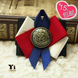Korea retro butterfly knot Brooch Korean court wind handmade corsage bow tie sweater buckle jewelry B44 Korea
