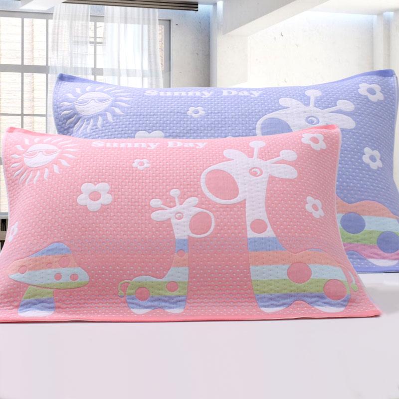 全纯棉加厚情侣四季透气通用学生学校专用枕巾一条价格