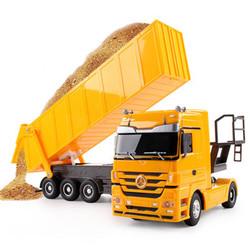 儿童遥控自卸车半挂车卡车货车工程车玩具奔驰翻斗车青艺遥控汽车