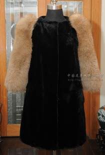 Europe station Optek Dili na OSSTINA imported super Rex large fox fur sleeves tide 8522