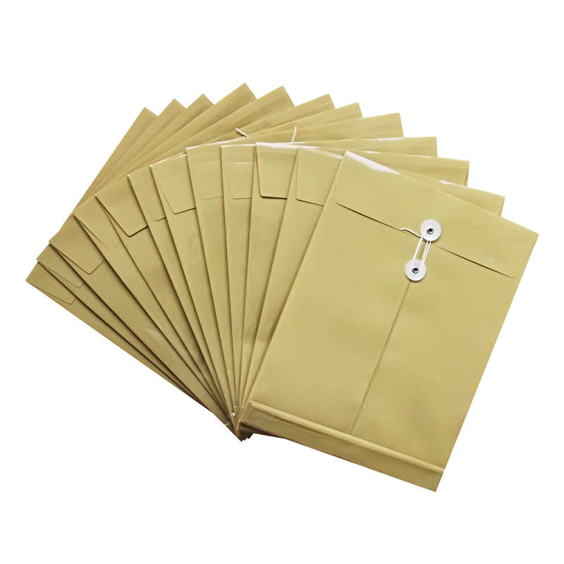 得力正品文具 5910防水档案袋 文件袋A4 PP材质 宽底 防水 带标签 试卷收纳袋办公用品文档收纳不易变形 批发