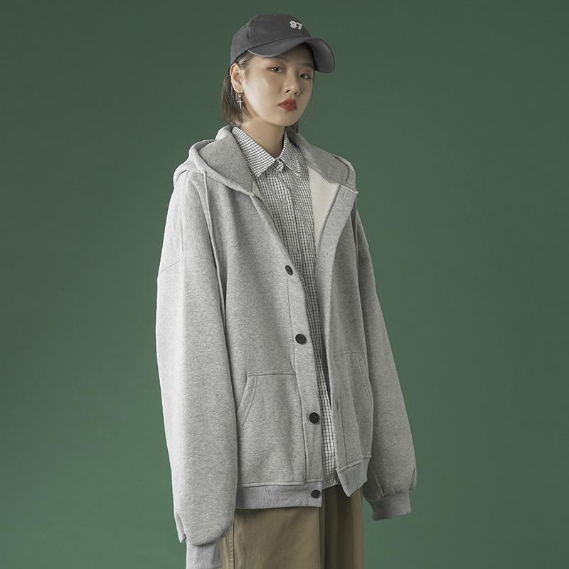 【买一送一】外套女秋冬百搭2020年新款加绒秋季女装bf风棒球服