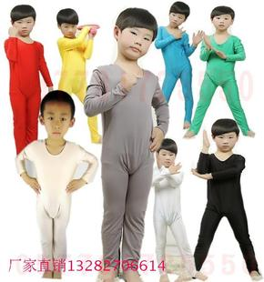 Child gymnastics fitness gym wear clothing children clothing boys and girls high elastic Siamese dance practice clothes