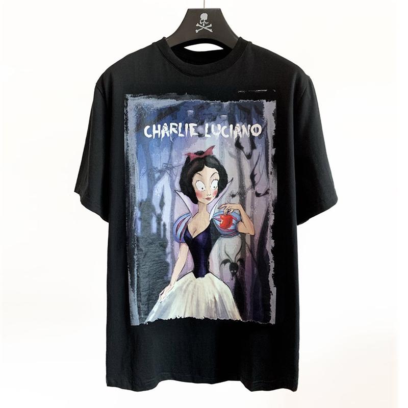 [现货]Charlie Luciano 春夏新款白雪公主插画Tee 黑白 宽松版型