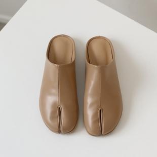 韩国东大门托鞋女外穿分趾鞋猪脚鞋忍者鞋半拖平底鞋百搭夏ins潮