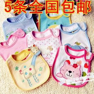 婴儿围嘴 口水巾 儿童纯棉全棉三层加厚防水围兜 宝宝口水兜