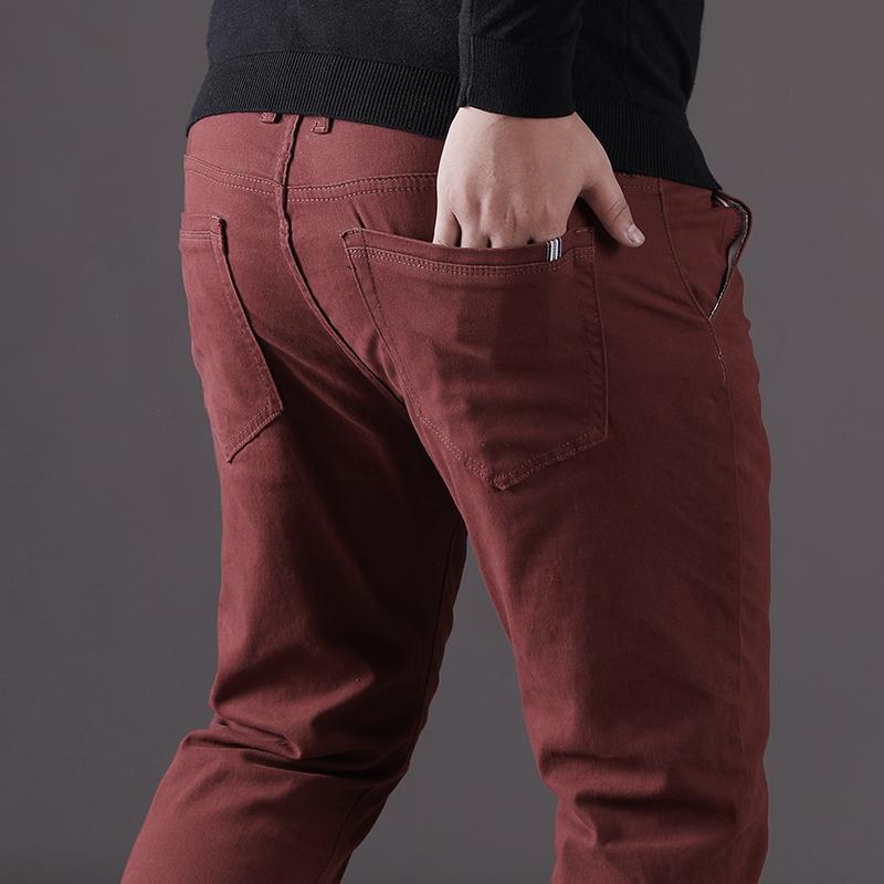 Autumn fattening increase casual pants elastic large mens fat fat mens loose straight pants fat mens large pants