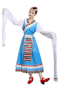 Dreamcoat blossoming new Tibetan ethnic dance costumes costumes five meters longer sleeves Women 1001