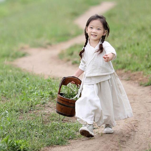 古装宝宝汉服襦裙女中国风儿童摄影服装2018新款女童套装亲子装夏