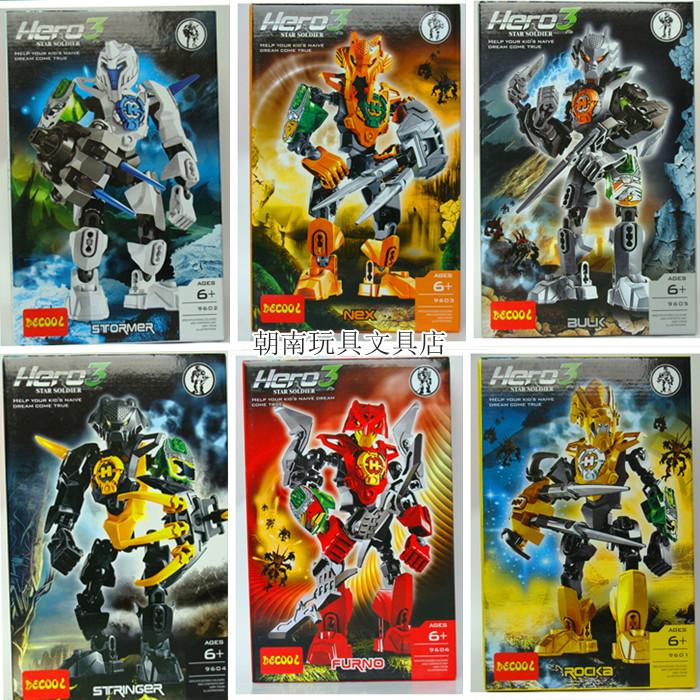 英雄工�S得高�C器人3�W生益智�Y品�e木玩具�和�拼�b合�w炫酷超人