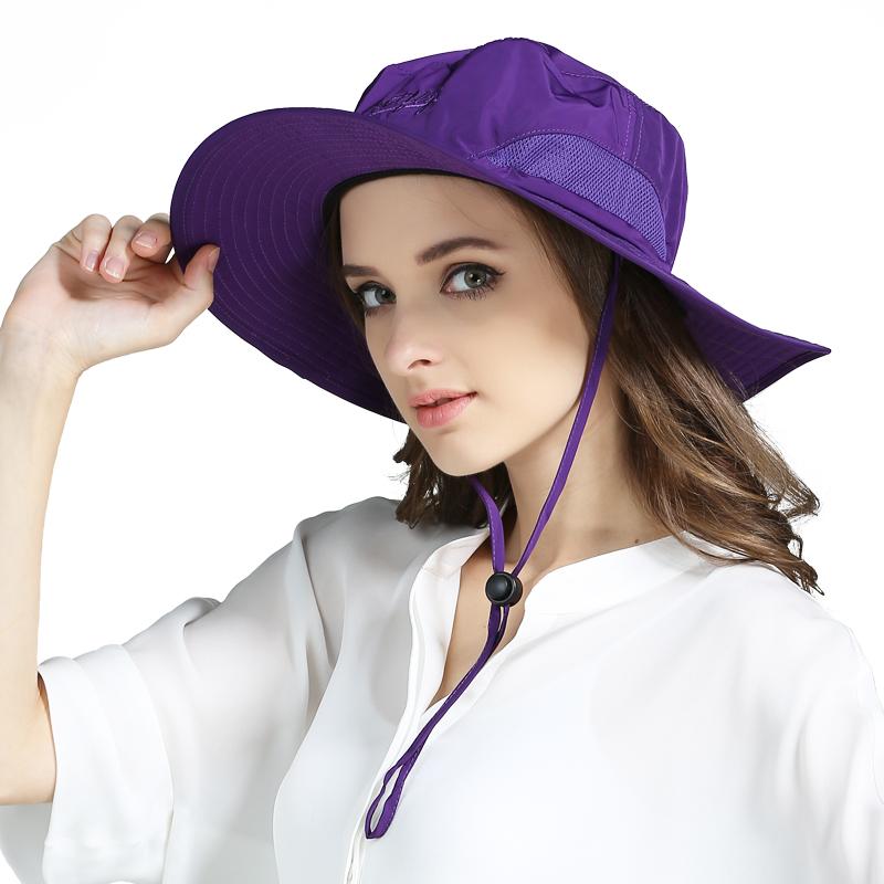 夏季户外渔夫帽 椭圆边网眼太阳帽男士帽子速干遮阳帽 防晒钓鱼帽
