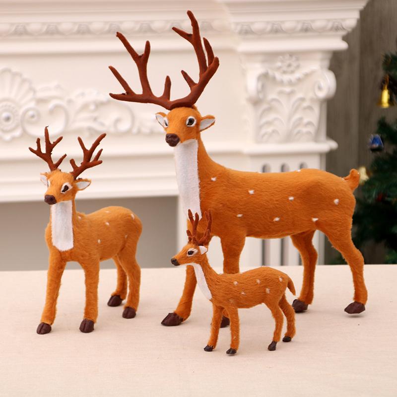 Рождество декоративный статья моделирование пятнистый олень украшение плюш игрушка рождество олень декоративный кукла рождество декоративный