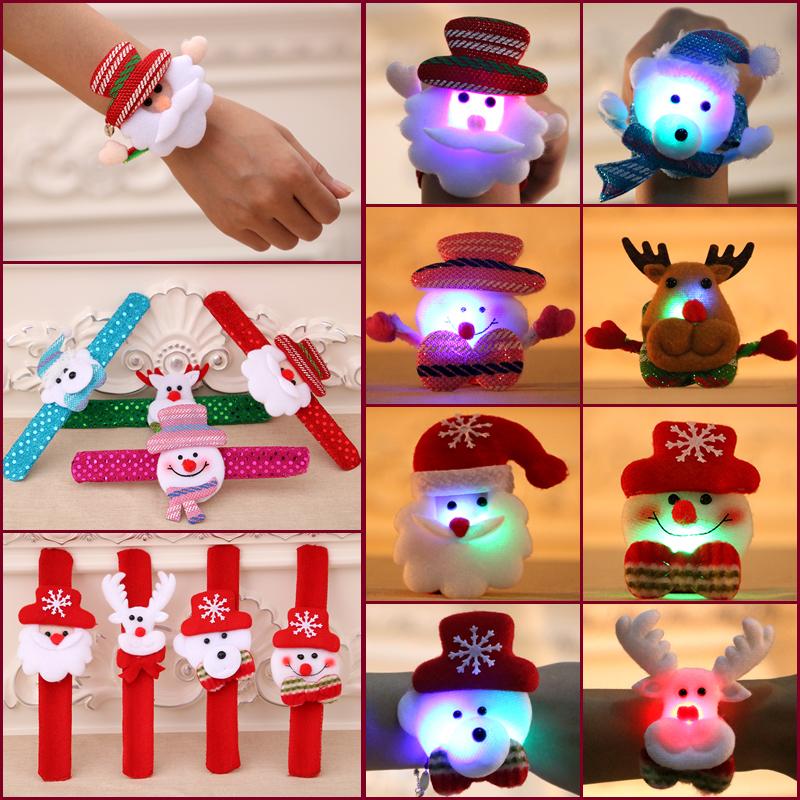 圣诞节儿童礼物品 圣诞手圈 圣诞节装饰品 圣诞节手扣 圣诞拍拍圈