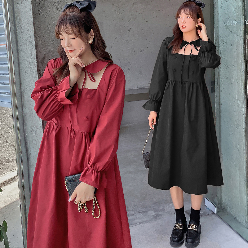 Fat mm extra large womens Dress Plus fat plus French retro Lolita small skirt new age reducing dress A321