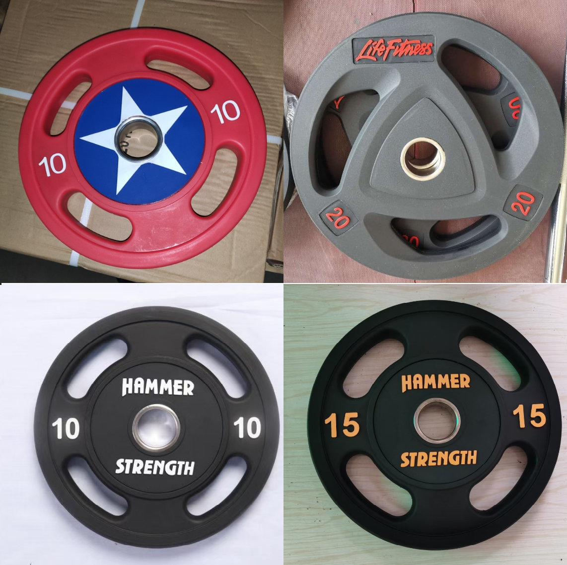 Lijian American team leader Hummer barbell pieces package environmental protection TPU tasteless export dumbbell pieces 2.5 to 25 kg