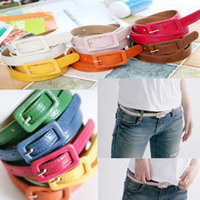 South Korea fashion women's waist belt square needle candy color belt buckle waist chain Square buckle belts