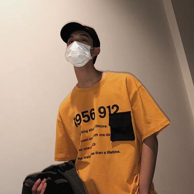 2018夏季男士圆领立体短袖t恤印花半袖打底衫H336-P40