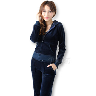 New Autumn velvet leisure suit women s sweater suit women sportswear sweater suit