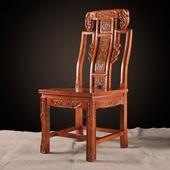全实木雕花象头椅明清靠背椅中式仿古餐台椅酒店椅古典椅工厂直销