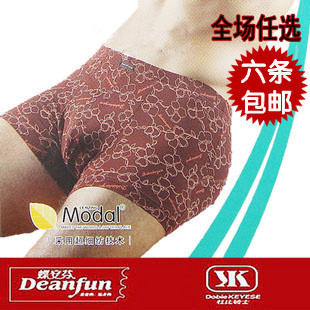2 Dolby Knight genuine modal men s printing soft and comfortable in the waist boxer briefs 7642