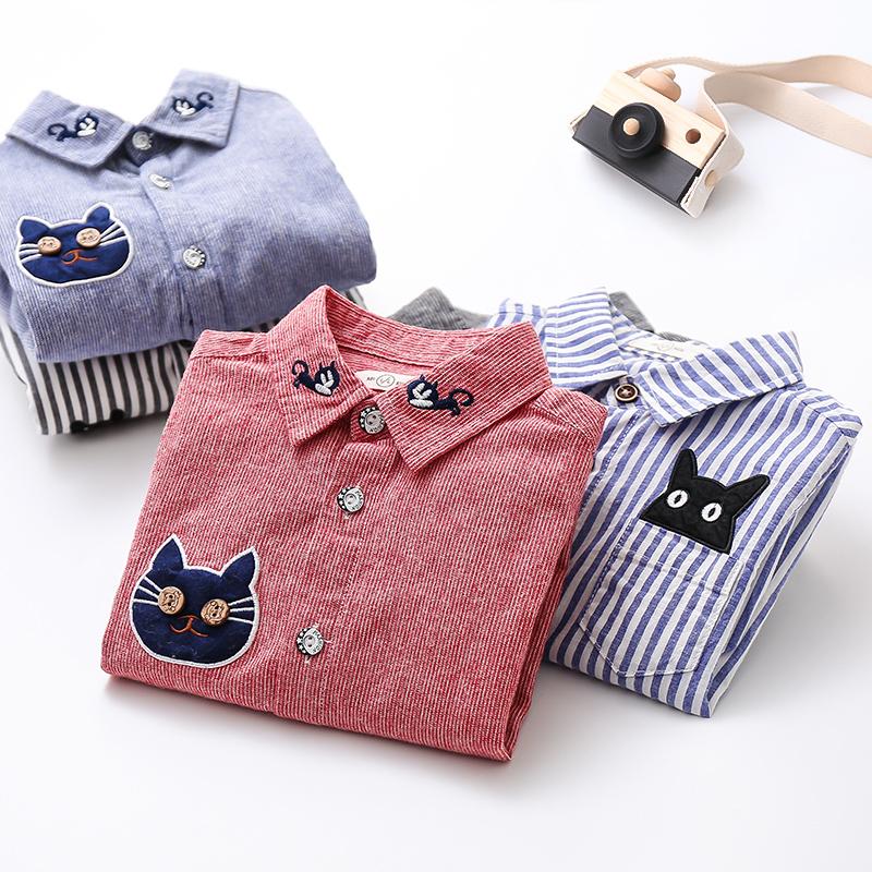 男童衬衫长袖纯棉春秋童装韩版新款小童宝宝条纹上衣儿童衬衣春装