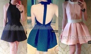 Summer Dress backless models over the United States three colors