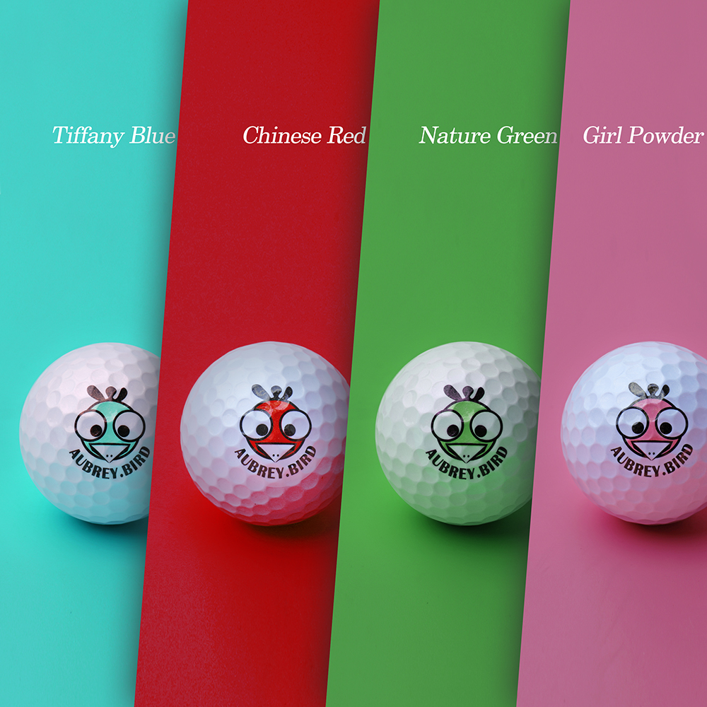 Golf aubreybird birdie new long distance 4-layer ball 3-layer ball color ball