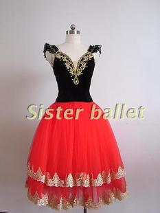 Don Quixote red veil Spanish bullfight big swing skirts and hand tailored professional ballet costumes dance clothes