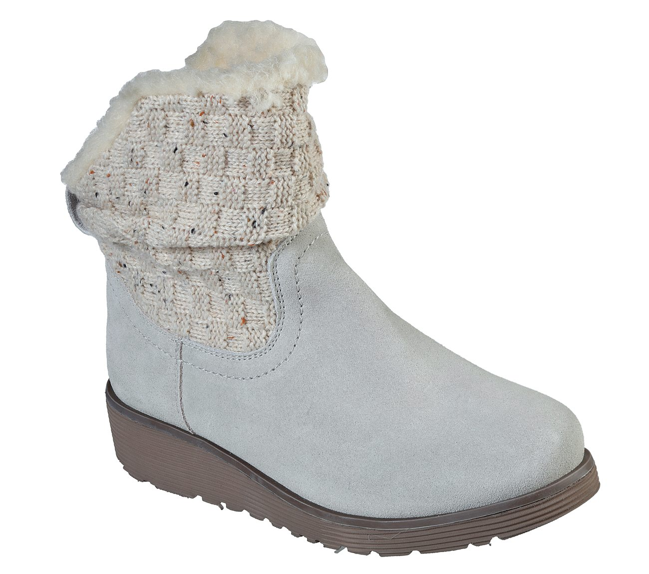 Skechers斯凯奇女鞋加绒保暖防滑短靴时尚百搭翻毛皮雪地靴44312