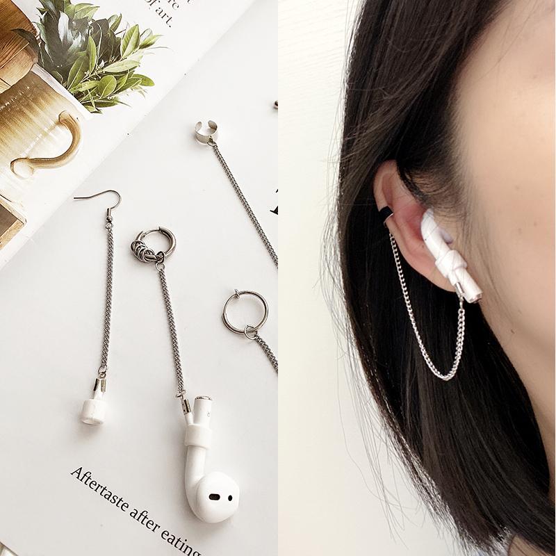 耳机防丢耳环蓝牙无线保护耳挂耳链男女耳骨夹无耳洞耳钉防掉耳夹图片
