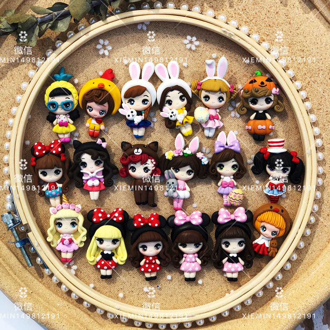 British imports of soft pottery handmade childrens hairpin headdress accessories Lolita accessories bowknot accessories