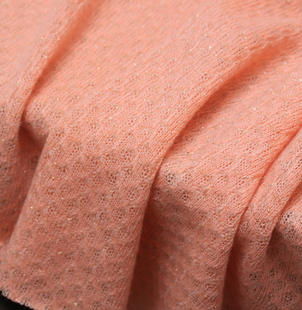 Cute pink knitted fabric flash gold 1 65 m wide 45 yuan m