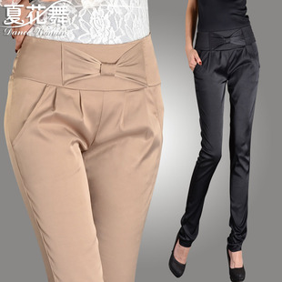 2013 new Korean version of Slim was thin straight jeans casual pants women pants trousers bow summer women