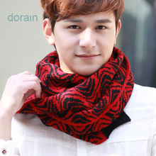 Qiu dong han edition men scarf tide plover case scarf male wool knitting scarf campus students extension thickening