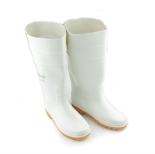 Acid and alkali proof oil high barrel rain shoes food hygiene boots white food boots acid and alkali resistant oil labor protection rain boots chemical proof boots