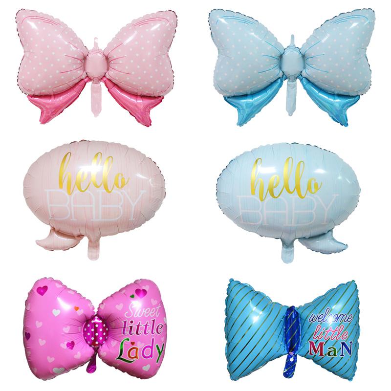 派对对话框新品婚庆生日装饰布置铝膜气球 男孩女孩领结蝴蝶结