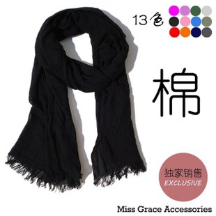 Ultra soft cotton men Ms Black Red Scarf autumn and winter warm cotton shawl scarf lengthen Korea