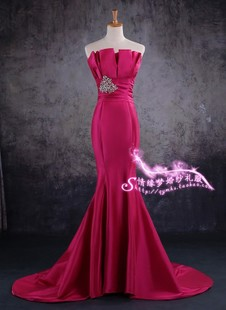2013 new hip pieces of red fishtail dress performance dress fashion dresses bridal dress catwalk